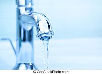 eau, grue, moderne, écoulement