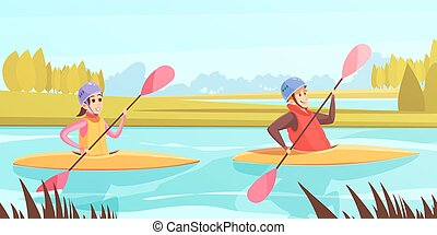 eau, illustration, sports