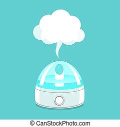 eau, illustration, vapor., humidificateur