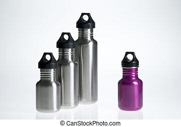 eau, individualité, bouteille