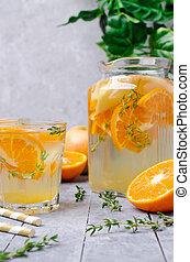 eau, infusé, fruit