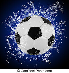 eau, irrigation, boule football