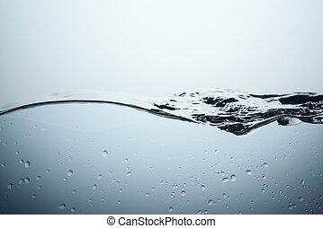 eau, isolé, gouttes, éclaboussure, fond, blanc