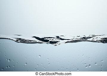 eau, isolé, texture, gouttes, éclaboussure, blanc