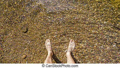 eau, jambes