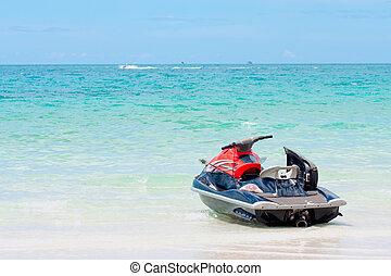eau, koh, scooter, plage., samui