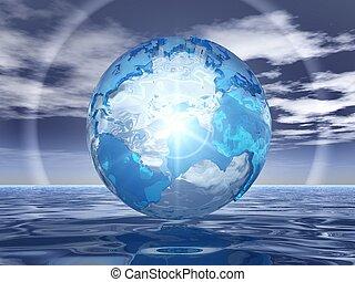 eau, la terre