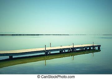 eau, lagune, albufera, calme, espagne