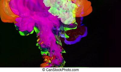 eau, lent, coup, vitesse, résumé, coloré, mouvement, fs700, ...