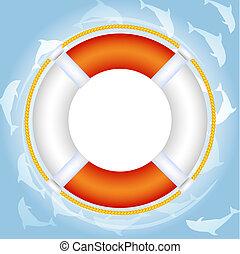eau, lifebuoy, sur