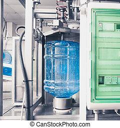 eau, ligne, production, boisson