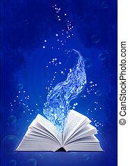 eau, livre, magie