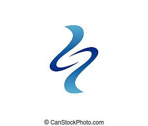 eau, logo, cercle, vecteur, gabarit