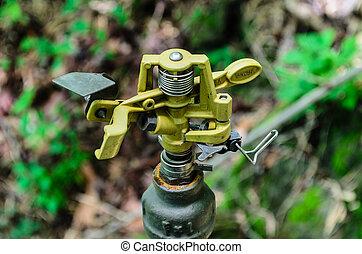 eau, métal, automatique, arroseuse