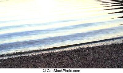 eau, mer, ondulations, fond