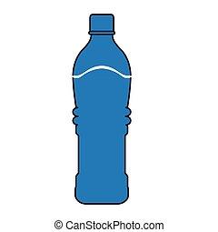 eau, minéral, bouteille