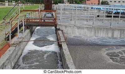 eau, moderne, traitement