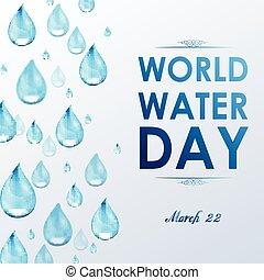 eau, mondiale, blanc, jour, fond