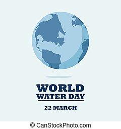 eau, mondiale, day., vecteur