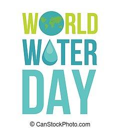 eau, mondiale, jour