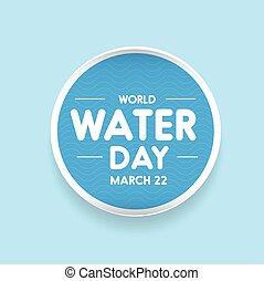 eau, mondiale, vecteur, jour