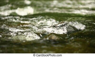 eau, montagne, rivière, rouler, eclabousse