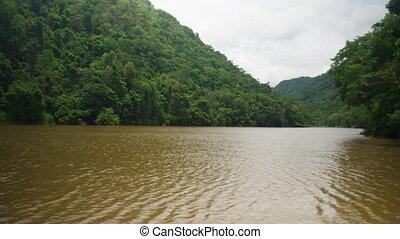 eau, montagnes, ruisseau, milieu