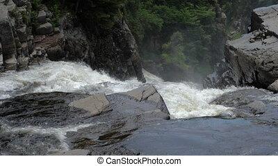 eau, montagnes, tomber