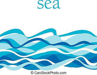 eau, motif, illustration., blu, pattern., surface, océan, invitation, banners., vecteur, en-tête, mer