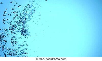 eau, mouvement, bulles, lent