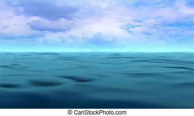 eau, ouvert, océan