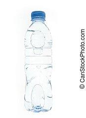 eau, pastic, transparent, bouteille