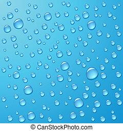 eau, photorealistic, gouttes