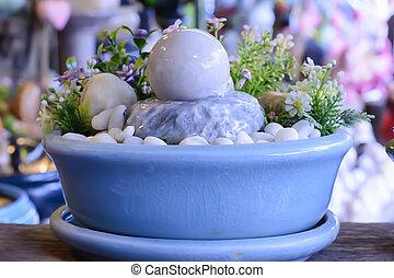 eau, pierre, bol, caractéristique