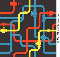 eau, pipeline, seamless, fond