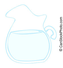 eau, pitcher.