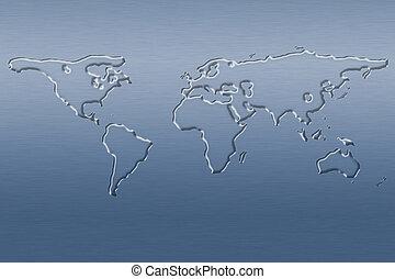 eau, planisphère