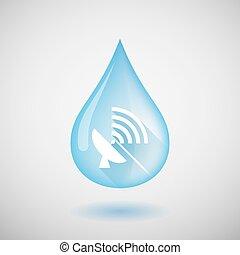 eau, plat, satellite, goutte
