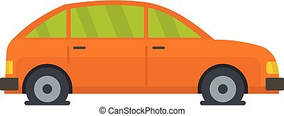 eau, plat, style, icône, voiture