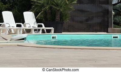 eau, pompage, piscine
