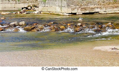 eau, pont, moyen-âge, ruisseau, sous