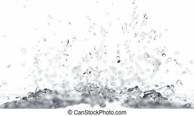 eau, réaliste, irrigation, animation, 3d