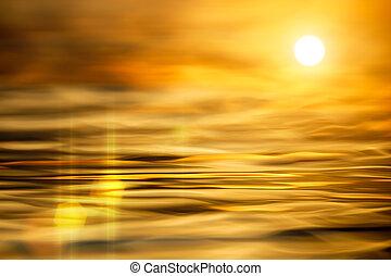 eau, réflecteur, résumé, fond, surface