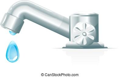 conceptuel robinet robinets gouttement illustration vecteurs search clip art. Black Bedroom Furniture Sets. Home Design Ideas