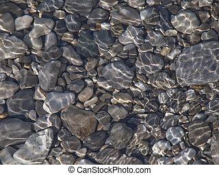eau, rochers