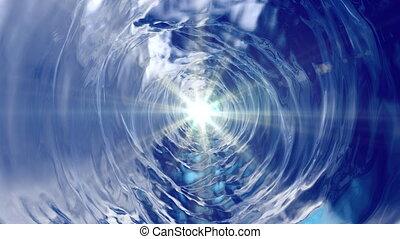 eau, rotation, lumière, cône, formulaire