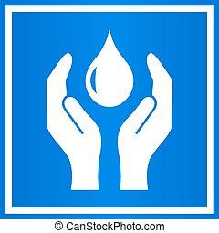 eau, sauver, signe