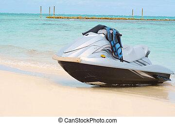 eau, scooter, plage