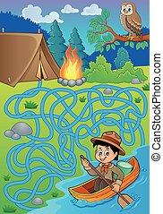 eau, scout, 27, labyrinthe