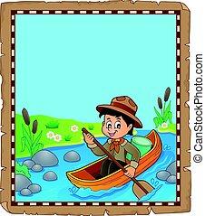 eau, scout, parchemin